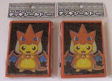 Pokemon Official Card Sleeves Mega Tokyo's Pikachu Pikazard Orange 2 Packs(64)JP