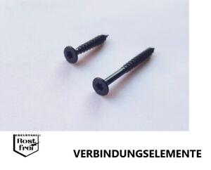 50 noirs Panneaux De Particules VIS Linsenkopf acier inoxydable a2 Noir 3,5x16 Torx