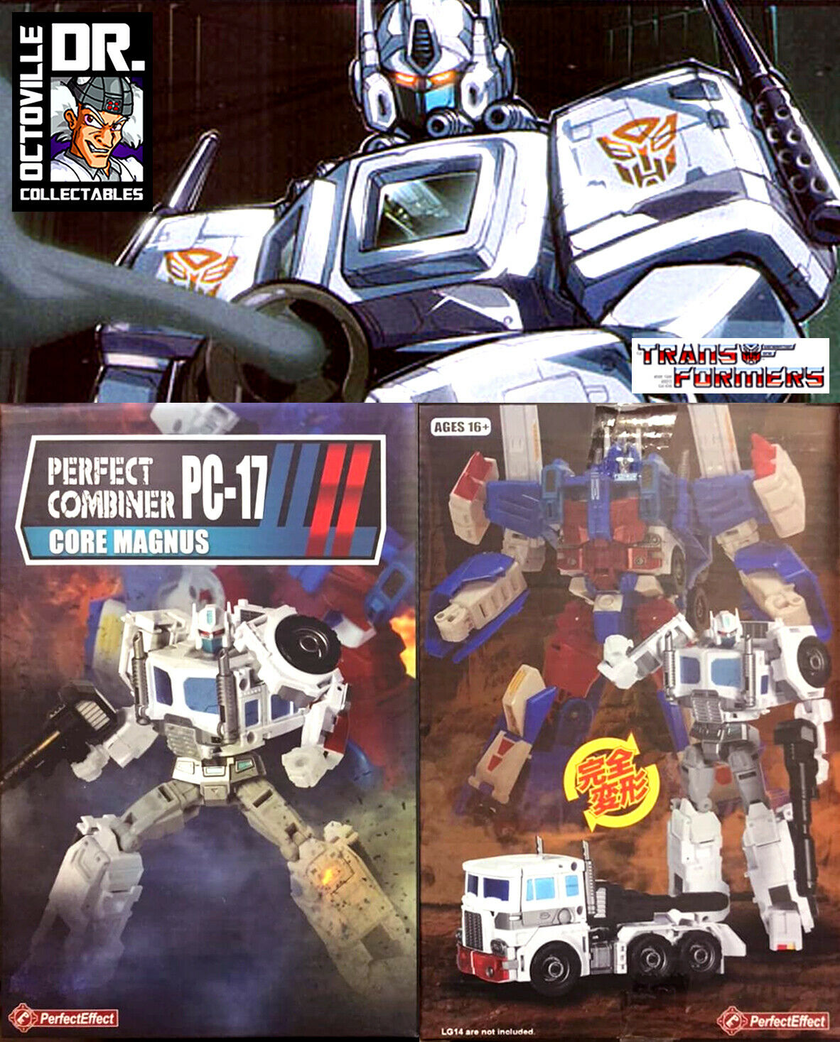 Transformers Transformers Transformers PC-17 Perfect Effect Core Magnus Upgrade Kit for Ultra Magnus MISB 733056