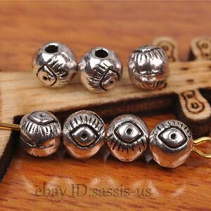 100pcs-Charm-Eye-Tibetan-silver-Bead-Spacer-DIY-Jewery-Making-Fit-Bracelet-A7267