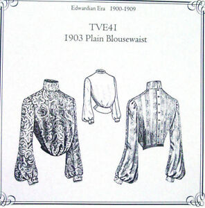 Truly-Victorian-Edwardian-Sewing-Pattern-ladies-1903-blouse-TVE41