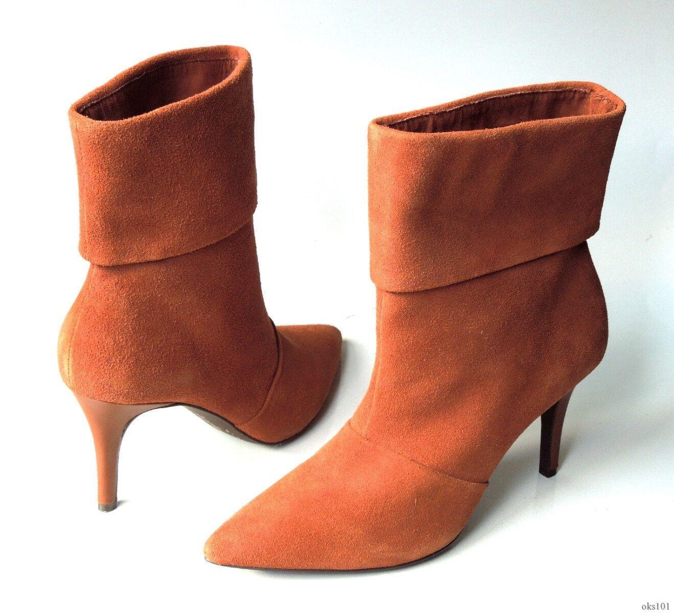 New pointy CHARLES DAVID Braun suede pointy New toe ankle Stiefel 8.5 - classy ecdfbf
