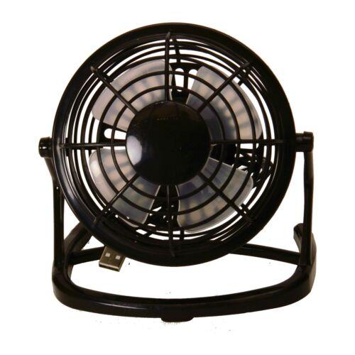 Ventilator Mini in schwarz mit USB Tisch Büro Klima Hitze Kühlung