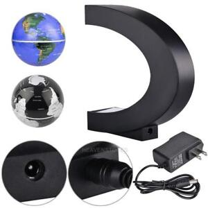C-Shape-LED-World-Map-Decoration-Magnetic-Levitation-Floating-Globe-Earth-Light