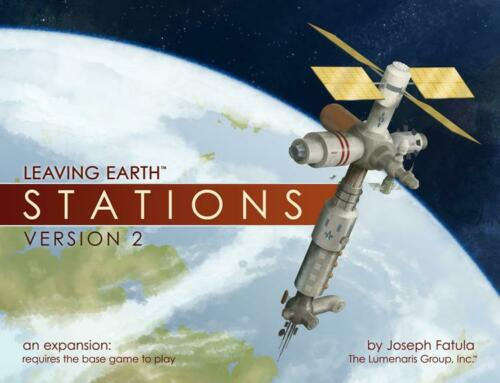 2nd Ed Lumenaris Boardgame  Leaving Earth Stations New
