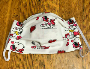 Snoopy Hearts Valentine Face Mask Filter Pocket Nose Wire 100 Cotton Ebay