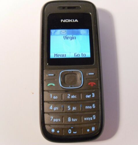 1 of 1 - Nokia 1208 - Black (Unlocked) Mobile Phone