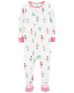 New Carter/'s Dancers Romper Snug Fit Cotton Pajama 1 Pc Girl 2T,3T,4T
