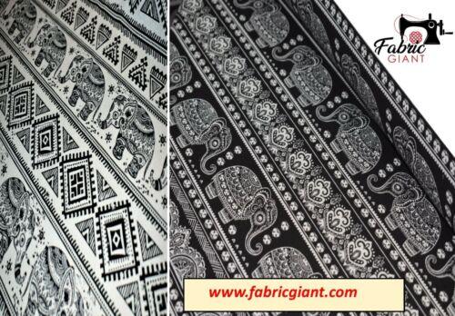 """diseño impreso de elefante 60/"""" Lona Impresa 100/% algodón material de tapicería de tela"""