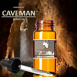 Smart Hand Crafted Sensitive Skin Beard Oil Conditioner .33oz By Caveman® Beard Care Can Be Repeatedly Remolded. Shaving & Hair Removal