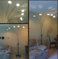 Modern Arch Floor Lamp Light 5 Arm Brass Finish Metal Plastic Home Decor Black
