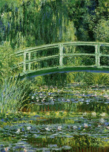 Framed-Print-Monet-Water-Lilies-and-Japanese-Bridge-Picture-Poster-Painting