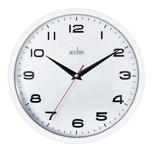 Acctim 92 301 Aylesbury Mural Quartz Bureau Cuisine Horloge Blanc