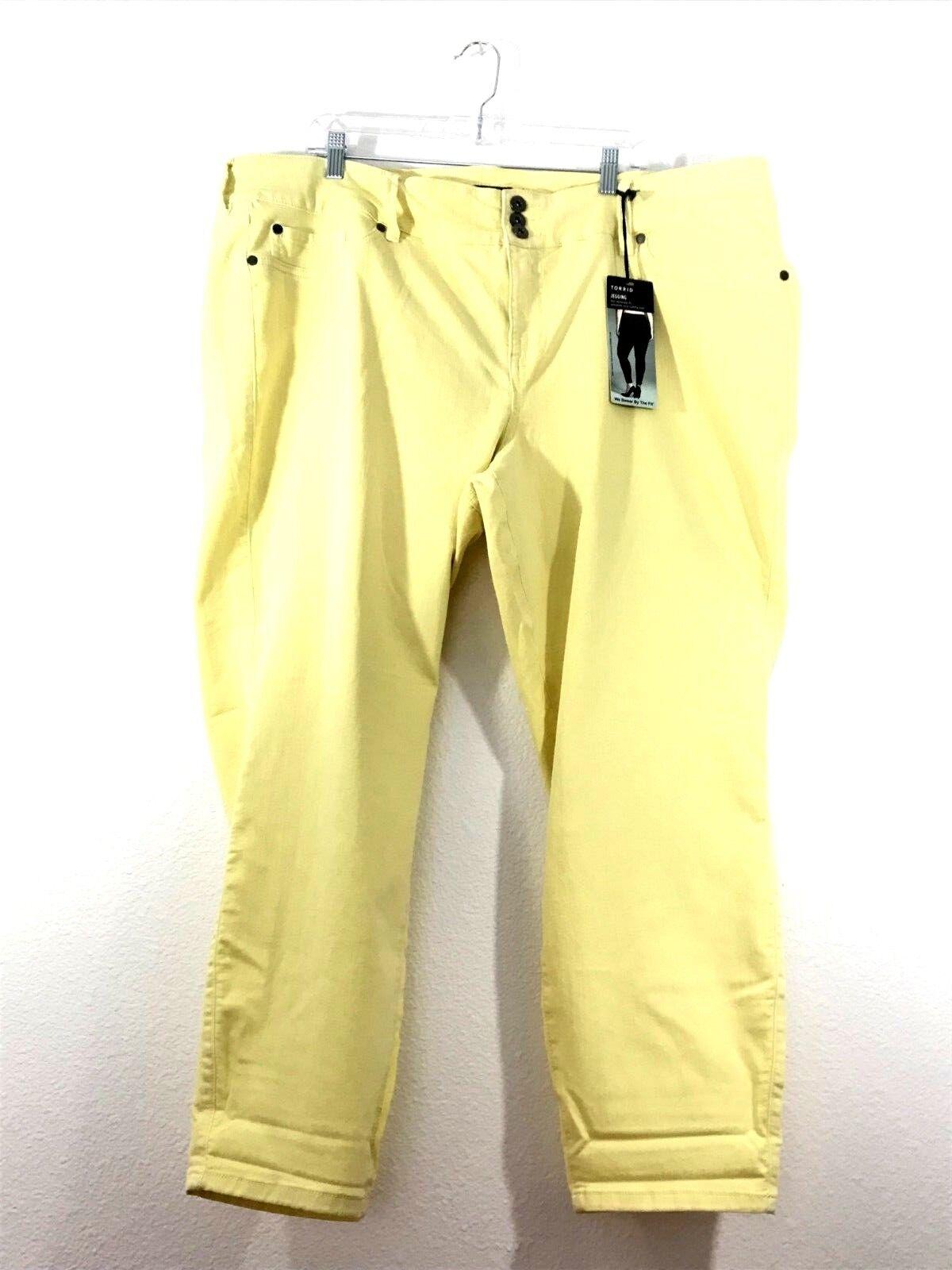 Torrid Denim, W, Legging, 3-Button Waist Closure, Little Yellow,