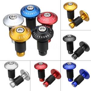 2x-7-8-039-039-22mm-CNC-Capuchon-Embout-Chargeur-Bouchon-Guidon-Poignee-MTB-Moto-VTT