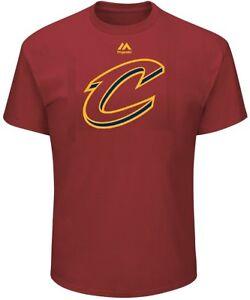 Cleveland Cavaliers Mens Garnet  Logo 2 Basketball Short Sleeve T Shirt