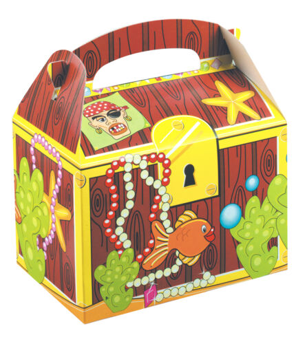 Children/'s Kids Treasure Chest Birthday Party Box Bag Loot Favour Carry Boxes