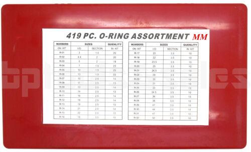 O-Ring Assortment Set Plumbing METRIC /& SAE Seal Rubber Gasket Tool Kit 826 Pc