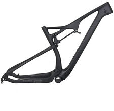 "29er 19"" BB92 UD matt Carbon Full Suspension Frame XC MTB Bicycle Thru axle Bike"