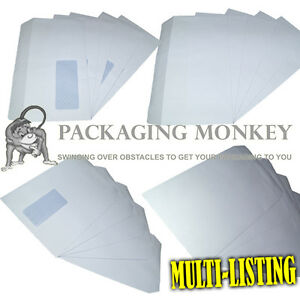 HIGH-QUALITY-WHITE-SELF-SEAL-ENVELOPES-PLAIN-amp-WINDOW-C4-C5-DL-90gsm-amp-100gsm