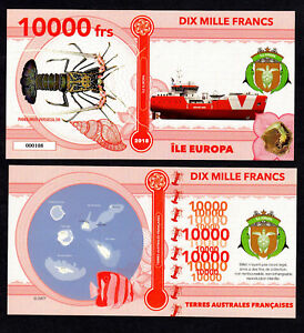 ILE-EUROPA-TAAF-BILLET-POLYMER-10000-FRANCS-COLONIE-FRANCAISE