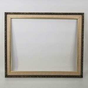 """Vintage 19""""x23"""" Painted Gold Wood Ornate Picture Frame"""