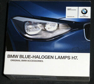 bmw brand oem blue halogen light bulb h7 pair brand new ebay. Black Bedroom Furniture Sets. Home Design Ideas