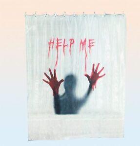 Das Bild Wird Geladen Horror Duschvorhang Help Me Blood Blut Shower Curtain