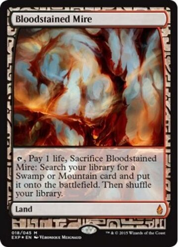 Fondrière Sanguinolente Sanguinolente Sanguinolente FOIL - Bloodstained Mire Zendikar Expeditions Magic Mtg 6eae5c