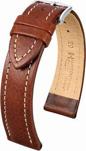Uhrenarmband-HIRSCH-Buffalo-strukturiertes-Artisan-Kalbleder-Lederband-Uhrband