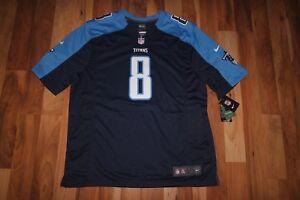 b81ed0490e0 NWT NFL NIKE Tennessee Titans Marcus Mariota Game Jersey Shirt BLUE ...