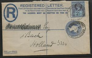 SG201-Uprated-2d-Reg-Env-By-Jubilee-2-amp-1-2d-London-To-Holland-21JY1894-Ref-05111