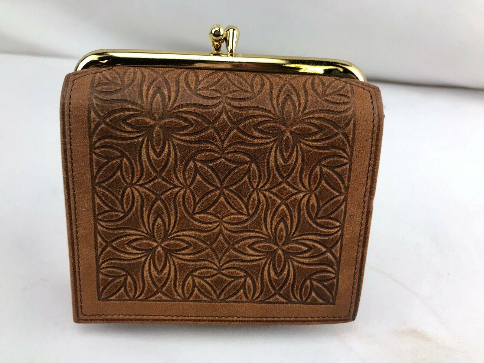 (NEW) VINTAGE Princess Gardner Leather tri-fold wallet change purse