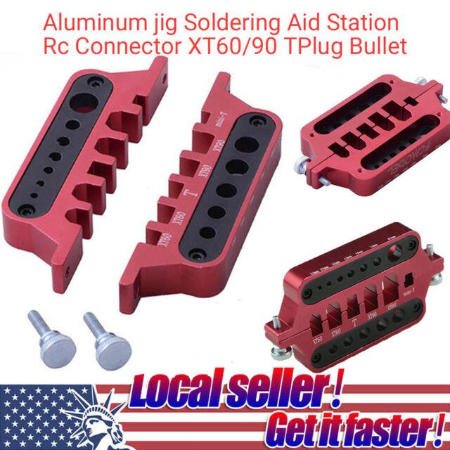 Aluminum jig Soldering Aid Station Rc Connector XT60/90 Plug Bullet RC Parts CH