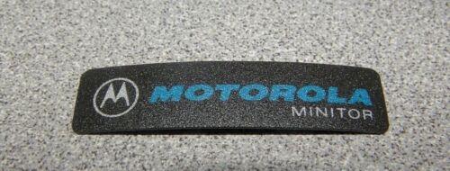 Motorola Minitor Label Logo Sticker Name Plate Grey