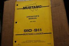 Mustang 910 911 Skid Steer Loader Owner Operator Operation Maintenance Manual