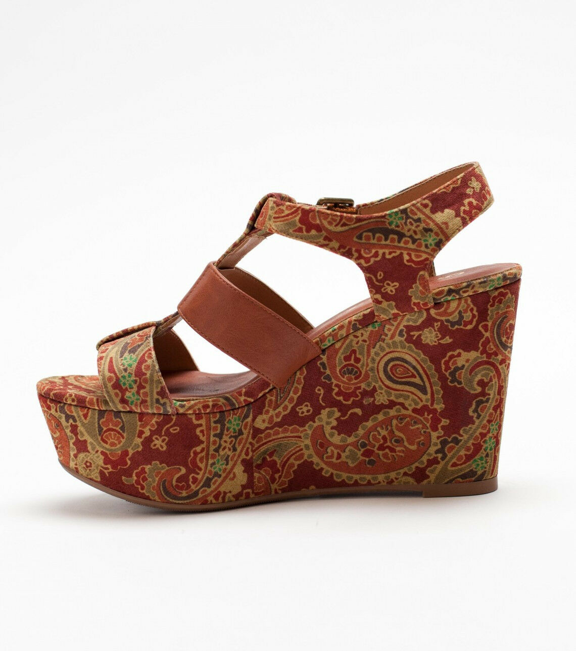 O'Neill O'Neill O'Neill Damenschuhe Kindra Platform Wedge Sandales 7 Medium Rust Braun Paisleys NEW 1298ef