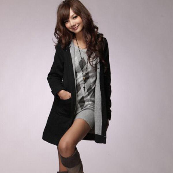 Fashion Lady Rhombus Long Sleeve Pullover Sweater Top Knitwear Jumper Mini Dress
