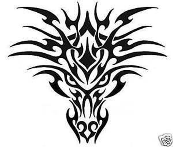 Reusable Stencil for Airbrush Large size Dragon 7