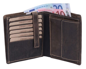 Look Cuir de vintages foncᄄᆭ Leas vᄄᆭritablebrun nombreuses usagᄄᆭes Portefeuille cartes iTPkOZXu