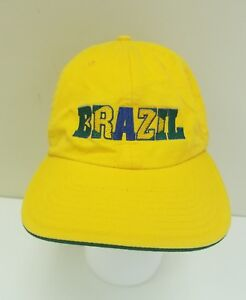 90b36ea810a765 Adidas Brazil FIFA World Cup 2006 Germany Adjustable Hat Cap Yellow ...