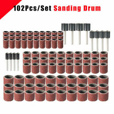 "63pcs 80Grit Drum Sanding Kit Sander Mandrels 1//2 3//8 1//4/"" Fit Dremel Nail Drill"