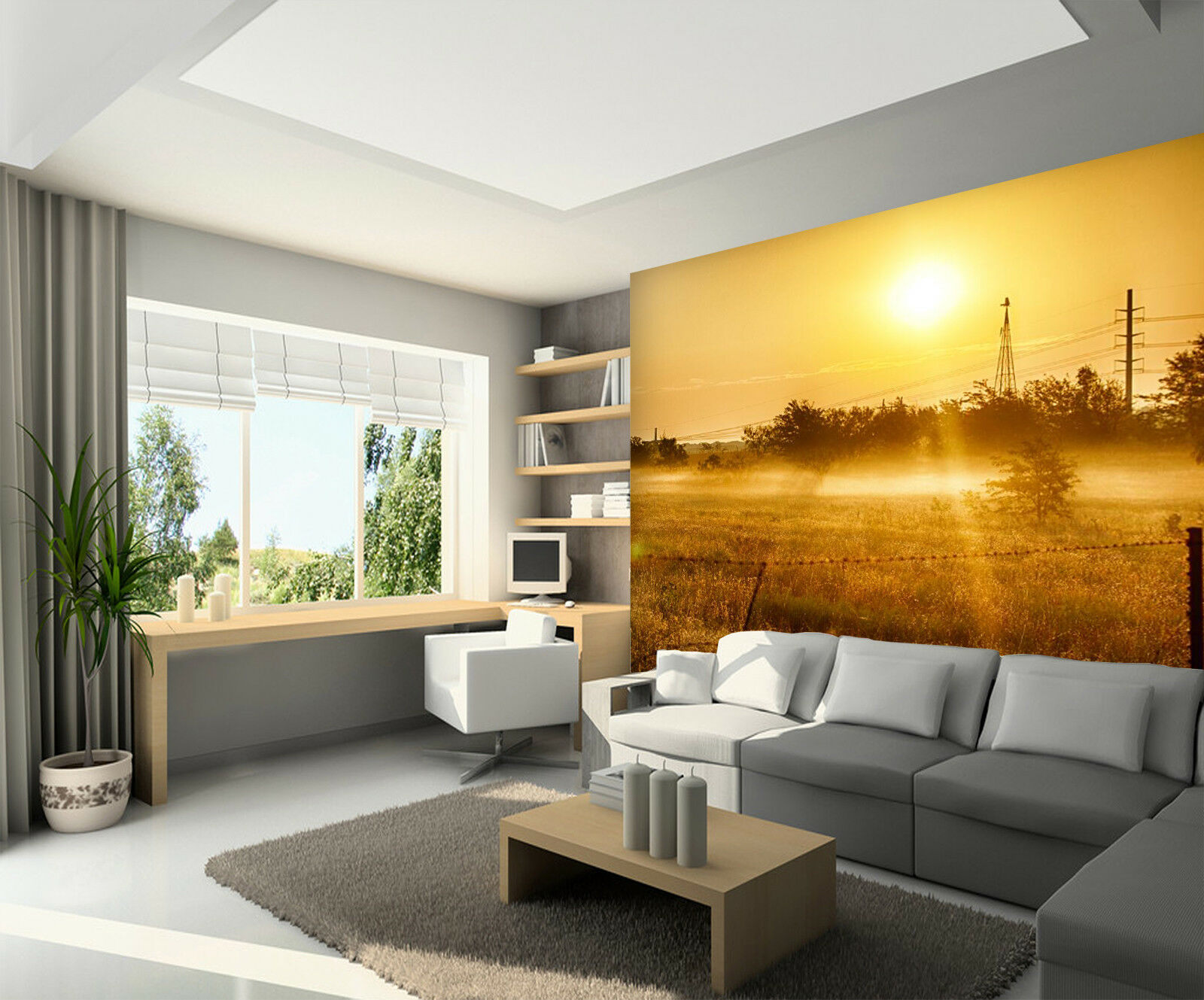 3D Sunlight Lawn 75 Wallpaper Mural Wall Print Wall Wallpaper Murals US Summer