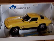 Corvette Sting Ray Sunfire Yellow  1967  EXOTO MOTORBOX  MTB00014  1:18