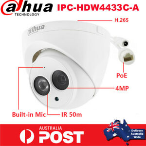 Dahua-HD-4MP-IPC-HDW4433C-A-Built-in-MIC-Home-Security-CCTV-PoE-IP-Camera-Dome