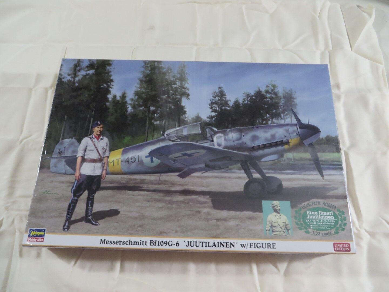 Hasegawa 1 1 1  32 Messerschmitt bf109g - 6 Juutilainen paquete 08242 sellado 17d