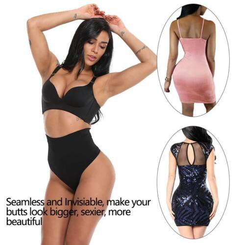 Details about  /Womens High Waist Trainer Tummy Control Body Shaper Thong Panty Shapewear Briefs