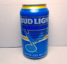 """2019 ST. LOUIS BLUES Bud Light Champions """"Let's Go Blues"""" Beer Can Hockey 12 oz"""