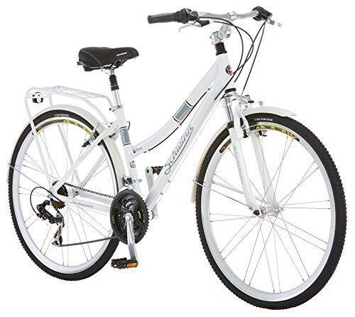 Schwinn 700c 21-SPEED Women's Hybrid City Bike 28'' Wheels White Aluminum  Frame