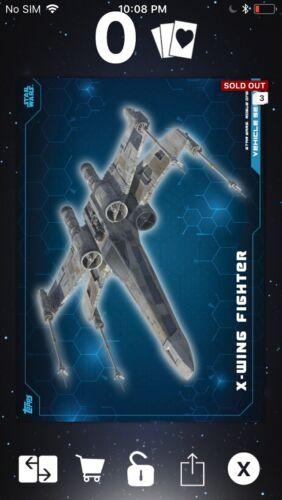 Topps Star Wars Digital Card Trader Blue RO Vehicle Series X-Wing Insert Award